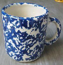 Blue Spatter 18 oz Heavy Pottery Coffee Mug