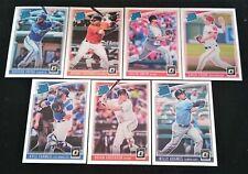 7 x Panini Donruss Optic 2018 Rated Rookie MLB Baseball Cards Bulk Lot RC