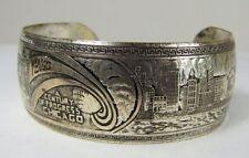 Orig 1933 Chicago World's Fair Souvenir Bracelet A Century of Progress Cityscape