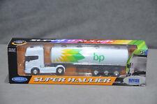 WELLY BP Fuel Tanker Scania V8 R730 Diecast Model Truck Lorry 1:64 Super Hauler