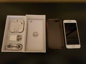 Apple iPhone 6 128GB Silver Sprint Cell Phone MG6E2LL/A Unlocked accessories box