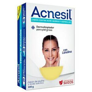 Acnesil Acne Treatment - Soap Against Acne, Pimples and Zits [No prescription]