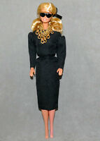 Barbie 1990s Doll Clothes Fashion BILLY BOY Black Dress Black Nails & Toes