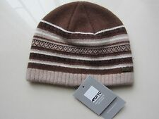 Musto fairisle beanie / hat unisex  AL3810 brown/coffee