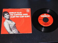"""EX/EX SHIRLEY ELLIS """"THE CLAPPING SONG"""" CONGRESS 2324 45 Picture Sleeve HEAR Mp3"""