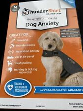 New listing Thundershirt Dog Medium 26-40 lbs Gray Solution Anxiety Thunder Fireworks Travel