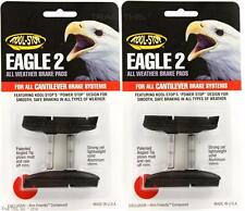 2-Packs Kool-Stop Eagle 2 Cantilever Bike Brake Pads Smooth Post Dry Use - Black
