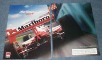 1996 Marlboro Cigarettes Team Penske Indy Car Vintage 2pg Ad