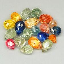 Lot de 20 Saphirs de Tanzanie, taille briolette/5,43 carats