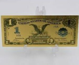 GEM 1899 $1 SILVER CERTIFICATE BLACK EAGLE Rep.*GOLD Banknote DOLLAR
