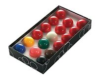 10 Red Snooker Ball Set for UK Pool Tables - 2 Inch Ball Set NEW Free Delivery