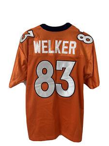 NIKE On Field NFL Denver Broncos Football #83 WES WELKER Sewn Stitched Jersey 48