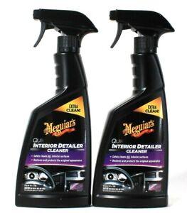 2 Bottles Meguiar's 16 Oz Quik Interior Detailer Cleaner For All Surfaces Spray