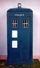 Police Telephone box PAINTED O Scale Model 1/43 Scenery Plastic