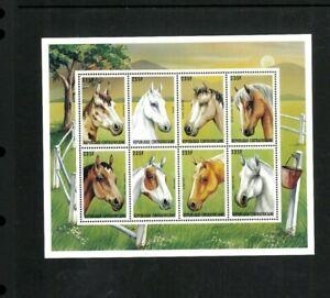 Central African Rep. #1137 Horses Mini Sheet x 47. Cat.376.00 (8.00/sheet)
