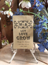Personalised Wedding Favour Seed Packets/Envs x 20 Vintage/Shabby Chic/Rustic