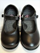 BUSTER BROWN Mary Jane Girls Dress/School Shoes EMILY Black Real Leather 8M, NEW