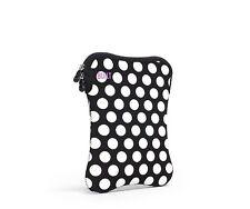 BUILT Neoprene Sleeve for 9-10-inch e-reader or Tablet, Big Dot Black and White