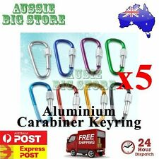 5 x Carabiner Clip Key Ring Holder Chain Cable Hiking Hook Lock Camping Screw