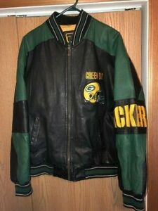 Men's XL Green Bay Packers Leather Jacket
