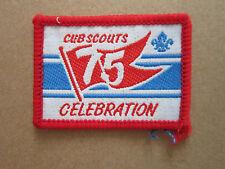 Cub Scouts 75 Celebration Woven Cloth Patch Badge Boy Scouts Scouting