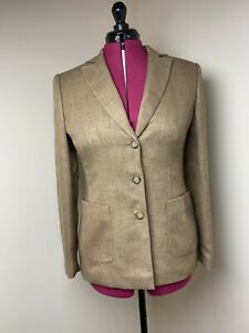 Gerry Weber Womens Brown Polyester Lapel Blazer UK Size 10
