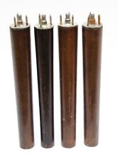 Set of 4 Vintage Small Wood Furniture Legs 7 inch Brown With Hardware