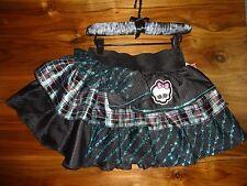 Monster High Frankie Stein Blue Plaid Skirt Black Elastic Waist OSFM NEW