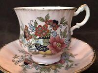 Paragon Oriental Series Canton Pink Floral tea cup and saucer England