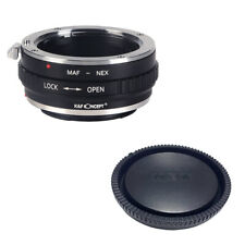 K&F adapter with lens cap for Minolta AF mount lens to Sony E NEX a5000 A7II A7R