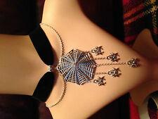 Necklace /Velvet choker with spider web pendant.Vampire Goth. Halloween