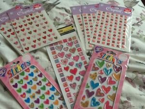 Heart alphabet stickers for crafting new