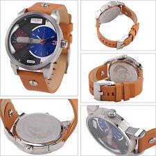 Diesel Men's Mini Daddy Stainless Steel Case Nude Leather Watch 46mm DZ7308