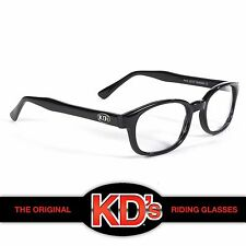 KD's Black Frame with Clear Lens Original Biker Sunglasses As Worn By Jax Teller