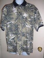 Men's Hawaiian Shirt Size Large Short Sleeve StyleO Golf Slip Over Head