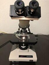 Olympus Bh2 Microscope 4x 10x 40x 100x Dplan Obj Light Source Adj Deal Ex Condi