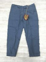 NEW Da-Nang Women's Capri Pants/ Cropped Pants INDIGO CLN1000 LARGE L