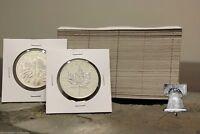 50 Coin Envelope Crown Flip Holder Case 3x4.5 White Sleeve Holds 2.5x2.5 Vinyl