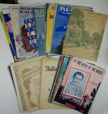Lot of 60 Piano Sheet Music 1940's Fox Trot Waltz Irving Berlin Big Band WW2