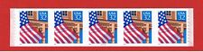 #2915a  MNH S/A  strip of 5 Flag over Porch w/#22222 Free S/H