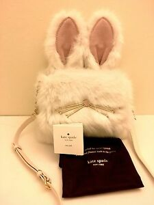 NWT Kate Spade Make Magic Rabbit Bunny Shoulder Bag Clutch Purse Sold out Rare