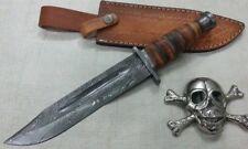 Custom Hand crafted Knife king's Damascus KA-BAR knife Damascus Version