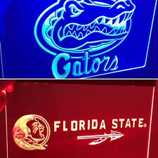 Florida Gators & Florida State Seminoles LED Neon Sign for Game Room,New!