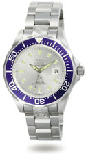 Invicta Men's Watch Grand Diver Automatic Silver Tone Dial Steel Bracelet 3046