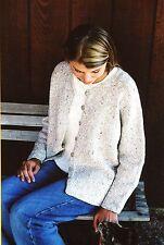 Knitting Pure & Simple Knitting Pattern 994 V Neck Neckdown Cardigan for Women