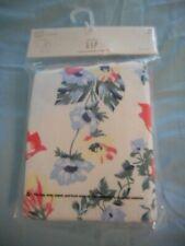 BABY GAP NWT Girl 3 years 2-pc white w pink blue floral print LS pajama set