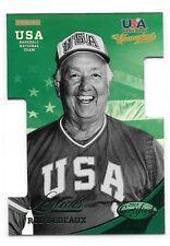 2013 Panini USA Champions Rod Dedeaux Certified Green Die Cut #ed /199