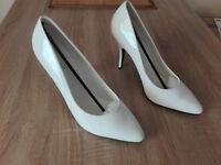 Pleaser High Heels, Pumps, Gr.46, Weiß, Lackleder, NEU