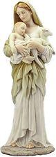 "12.5"" Innocence Statue Figure Saint Religious Mary Holding Baby Jesus & Lamb"