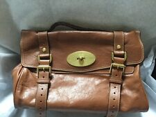 NWT Authentic MULBERRY Cognac Brown Leather ALEXA Buffalo Crossbody Satchel Bag